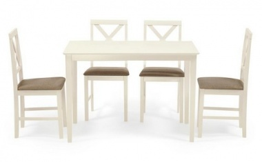 Обеденная группа «Hudson Dining Set ivory white, ткань беж. (Q19-1)»